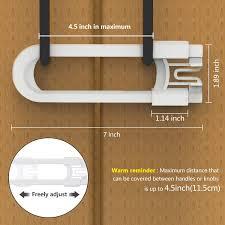 Adoric Sliding Cabinet Locks U Shaped Baby Safety Locks Childproof