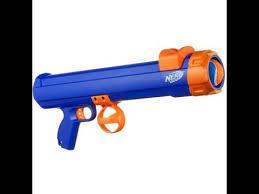 ball nerf guns. (nerf dog) tennis ball launcher review! nerf guns