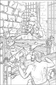 Kleurennu Paulus En Silas In De Gevangenis Kleurplaten