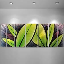 large metal tropical wall art