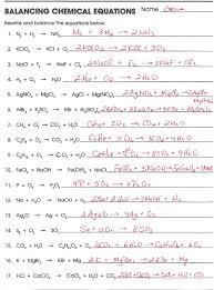 balancing chemical equations worksheet answers davezan