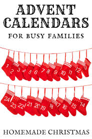 Calendar Countdown Days Homemade Advent Calendar Christmas Ideas For Busy Families