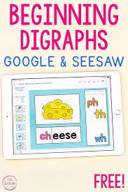 beginning digraphs word building