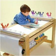 childrens art desk toddler kids table with chair set small