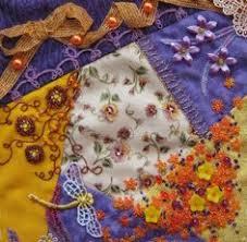 I ❤ embroidery & crazy quilting . . . Block in progress ... & I ❤ crazy quilting, beaing & embroidery . . . ~By Marjolein M. Adamdwight.com