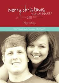 Get the personalized WE HAVE MOVED Christmas cards you've been ...