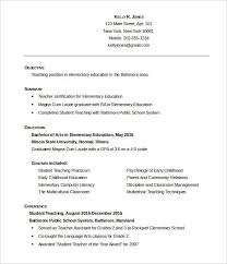 Resume Templates For Word 2007 Adorable Teacher Resume Templates Microsoft Word 28 Teacher Resume