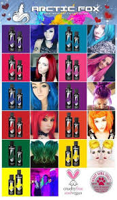 Arctic Fox Hair Dye Color Chart Arctic Fox 100 Vegan Wrath Semi Permanent Hair Dye Colour