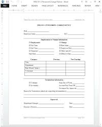 8 Payroll Change Notice Form Template Monster Logo Personnel – Rigaud