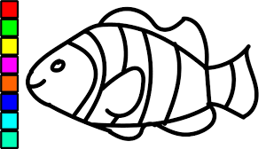 Clown Fish Colouring Videos For Kids Coloring Pages Children New