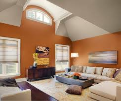 Living Room:Awesome Orange Beige Accent Wall Interior Living Room Paint  Colors Idea Outstanding 25