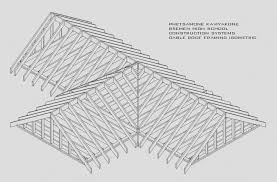 gable roof framing isometric