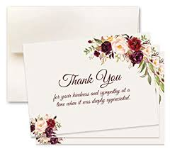 Thank You Sympathy Cards 15 Sympathy Acknowledgement Cards Includes Envelopes