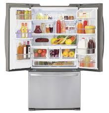 lg french door refrigerator freezer. lfxs24623s lg 24.2 cu. ft. ultra capacity 3-door french door refrigerator - stainless steel lg freezer