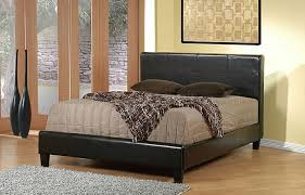 dark chocolate brown contemporary bed