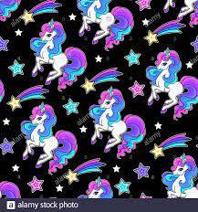 Seamless pattern with unicorn on a ...