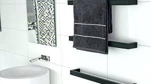 heated towel rack architecture black com within bars decor bathroom bath reviews hardwired heated towel bar w39