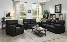 ballard 3 piece living room set black