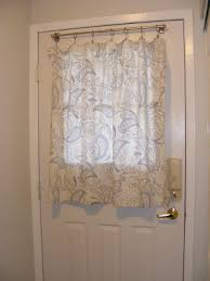 front door window coveringsDIY Entryway upgrade Front door curtains  For the Home