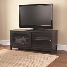 view images tv stand black sliding door