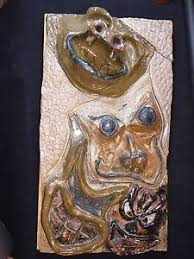 animal face masks wall art tile decor pottery clay rumpf dahline meaders style on clay wall art pottery with animal face masks wall art tile decor pottery clay rumpf dahline