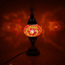 handmade moroccan turkish style mosaic table lamp light medium size