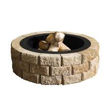Block Fire Pit Kit Fire Pit Outdoor Living Kits Landscaping The Home Depot
