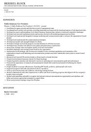 Public Relations Specialist Resume Resume Examples