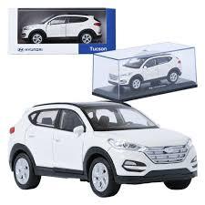 Pino B\u0026D HYUNDAI Tucson TL White 1:38 Display Mini Car Miniature  A