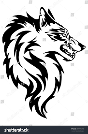 wolf face black and white. Interesting White Illustration Of Wolf Face Black And White Tattoo Over Isolated  Background In Wolf Face Black And White H