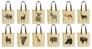 image is loading great animal beige printed canvas tote bags leather