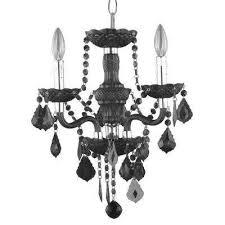 3 light chrome maria theresa chandelier with black acrylic