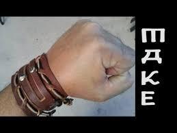men s leather bracelet cuff maker