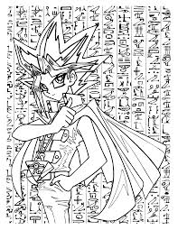Yami bakura and yami yugi about to begin their shadow game. Free Printable Yugioh Coloring Pages For Kids