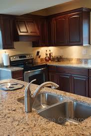 Venetian Gold Granite Kitchen Medallion Silverline Cabinetry Camilla Maple Door Gingersnap