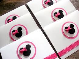 6 <b>Minnie Mouse</b> thank you cards invitation invite by ArleenDesign ...