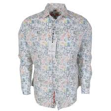 Robert Graham Shirt Size Chart Robert Graham Boxed In Broken Box Print Classic Fit Sports Shirt
