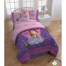 disney sofia the first full purple pink sheet set