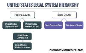 United States Court System Flow Chart United States Legal System Hierarchy Legal System