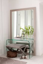entryway furniture with mirror. simple glass mirrored entryway table soft chair standing fullsize mirror pattern rug furniture with