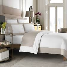 Buy Wamsutta Hotel MICRO COTTON Reversible Twin Duvet Cover in White/Taupe  from at Bed Bath & Beyond. Create a tailored hotel look in your bedroom  with ...