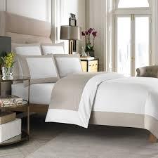 wamsutta hotel micro cotton reversible duvet cover in white taupe