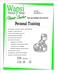 personal training wapsi physical therapy fitness center personal training