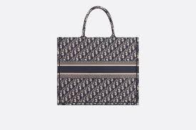 French Designer Tote Bags Blue Dior Oblique Book Tote Bag