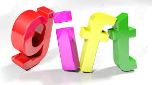 The Word Gift The Word Gift Written With Colorful 3d Letters Slightly Bent