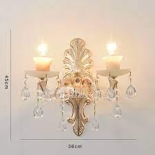 2 light modern crystal wall mount light