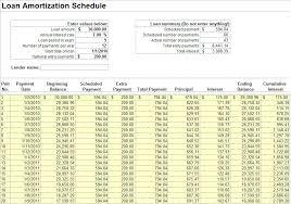 mortgage schedule calculator excel