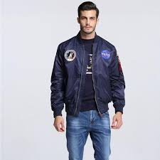 whole high quality navy flying jacket nylon winter varsity american college er flight jacket for men leather coats women men jackets and coats from