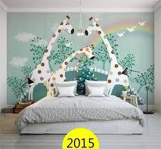Nice 3D Wallpaper/custom Photo Wall Paper/Kidsu0027 Room/giraffe Green Trees Fly