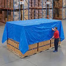 Woven Poly Tarp - Blue, 16 x 20' S-3886 - Uline